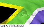 Купить «South African Flag», видеоролик № 29668512, снято 18 января 2019 г. (c) Wavebreak Media / Фотобанк Лори