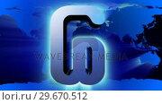 Купить «Mail symbol against Earth map. », видеоролик № 29670512, снято 23 июля 2019 г. (c) Wavebreak Media / Фотобанк Лори