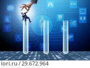 Купить «Artificial intelligence concept with businessman out of tube», фото № 29672964, снято 24 мая 2019 г. (c) Elnur / Фотобанк Лори