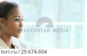 Купить «Portrait of a charming AfroAmerican business woman », видеоролик № 29674604, снято 17 февраля 2019 г. (c) Wavebreak Media / Фотобанк Лори