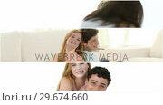 Купить «Panel of teenager couples having fun», видеоролик № 29674660, снято 11 июля 2020 г. (c) Wavebreak Media / Фотобанк Лори