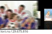 Купить «Animation of diverse families having fun », видеоролик № 29675816, снято 10 июля 2020 г. (c) Wavebreak Media / Фотобанк Лори