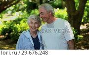 Купить «Elderly couple looking at the way ahead», видеоролик № 29676248, снято 10 ноября 2010 г. (c) Wavebreak Media / Фотобанк Лори