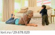 Купить «Woman spending a good time with her son», видеоролик № 29678020, снято 6 ноября 2010 г. (c) Wavebreak Media / Фотобанк Лори
