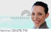 Купить «A businesswoman watching the sea», видеоролик № 29678716, снято 3 ноября 2011 г. (c) Wavebreak Media / Фотобанк Лори