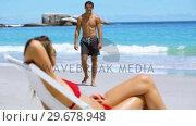 Купить «Peaceful woman sunbathing», видеоролик № 29678948, снято 15 ноября 2011 г. (c) Wavebreak Media / Фотобанк Лори