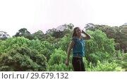 Купить «Happy woman jumping in slow motion», видеоролик № 29679132, снято 14 ноября 2011 г. (c) Wavebreak Media / Фотобанк Лори