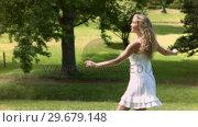 Купить «Blonde woman dancing in slow motion», видеоролик № 29679148, снято 17 ноября 2011 г. (c) Wavebreak Media / Фотобанк Лори