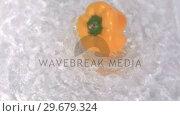 Купить «Pepper turning in water in super slow motion», видеоролик № 29679324, снято 26 января 2012 г. (c) Wavebreak Media / Фотобанк Лори