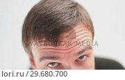 Купить «Businessman sitting on a swivel chair while grinning», видеоролик № 29680700, снято 22 ноября 2011 г. (c) Wavebreak Media / Фотобанк Лори