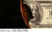 Купить «Dollars banknote burning», видеоролик № 29682588, снято 18 мая 2012 г. (c) Wavebreak Media / Фотобанк Лори