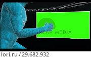 Купить «Human body running with chroma keys», видеоролик № 29682932, снято 20 августа 2012 г. (c) Wavebreak Media / Фотобанк Лори