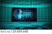 Купить «Futuristic animation showing screens with padlock», видеоролик № 29684648, снято 3 мая 2013 г. (c) Wavebreak Media / Фотобанк Лори