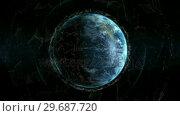 Купить «Close up of the Earth turning on itself», видеоролик № 29687720, снято 31 марта 2016 г. (c) Wavebreak Media / Фотобанк Лори