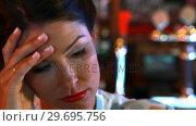 Купить «Close-up of sad woman», видеоролик № 29695756, снято 14 ноября 2016 г. (c) Wavebreak Media / Фотобанк Лори