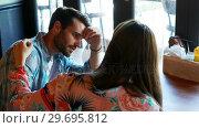 Купить «Woman consoling upset man», видеоролик № 29695812, снято 14 ноября 2016 г. (c) Wavebreak Media / Фотобанк Лори