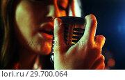 Купить «Close-up of female singer singing in studio», видеоролик № 29700064, снято 23 ноября 2016 г. (c) Wavebreak Media / Фотобанк Лори