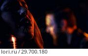 Купить «Close-up of female singer singing in studio», видеоролик № 29700180, снято 23 ноября 2016 г. (c) Wavebreak Media / Фотобанк Лори