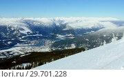 Купить «Mountain covered with snow», видеоролик № 29701228, снято 30 января 2017 г. (c) Wavebreak Media / Фотобанк Лори