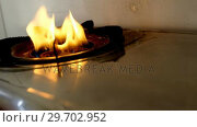 Купить «Close-up of gas stove», видеоролик № 29702952, снято 26 марта 2017 г. (c) Wavebreak Media / Фотобанк Лори
