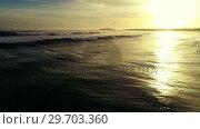 Купить «Waves on seashore 4k», видеоролик № 29703360, снято 19 апреля 2017 г. (c) Wavebreak Media / Фотобанк Лори