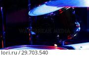 Купить «Drummer playing on drum set 4k», видеоролик № 29703540, снято 7 марта 2017 г. (c) Wavebreak Media / Фотобанк Лори