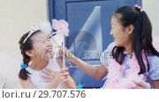 Купить «Siblings in fairy costume having fun at outside home 4k», видеоролик № 29707576, снято 20 марта 2017 г. (c) Wavebreak Media / Фотобанк Лори