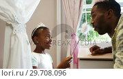 Купить «Father and daughter in fairy costume having fun 4k», видеоролик № 29708096, снято 15 марта 2017 г. (c) Wavebreak Media / Фотобанк Лори