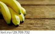 Купить «Bunch of fresh bananas 4k», видеоролик № 29709732, снято 12 июня 2017 г. (c) Wavebreak Media / Фотобанк Лори