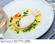 Купить «Plate of roasted Cuttlefish», фото № 29711208, снято 20 января 2019 г. (c) Яков Филимонов / Фотобанк Лори