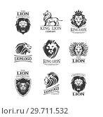 Купить «Emblems with Lions», иллюстрация № 29711532 (c) Миронова Анастасия / Фотобанк Лори