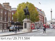 Купить «Statue of the Duke of Cambridge, Whitehall», фото № 29711584, снято 31 октября 2017 г. (c) EugeneSergeev / Фотобанк Лори