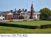 Купить «The Jubilee Clock Tower in seaside town Seaton. Devon. England», фото № 29712432, снято 11 мая 2009 г. (c) Serg Zastavkin / Фотобанк Лори