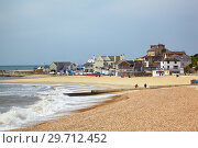 The sandy coast at Cobb harbor. Lyme Regis. West Dorset. England (2009 год). Стоковое фото, фотограф Serg Zastavkin / Фотобанк Лори