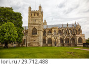 Exeter Cathedral (Cathedral Church of Saint Peter). Exeter. Devon. England (2009 год). Стоковое фото, фотограф Serg Zastavkin / Фотобанк Лори