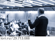 Купить «Sturtup expert giving talk at business event workshop.», фото № 29713088, снято 15 января 2019 г. (c) Matej Kastelic / Фотобанк Лори