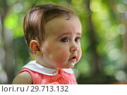Купить «Six months old baby girl having fun outdoors.», фото № 29713132, снято 4 августа 2011 г. (c) Ingram Publishing / Фотобанк Лори