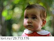 Купить «Six months old baby girl having fun outdoors.», фото № 29713176, снято 4 августа 2011 г. (c) Ingram Publishing / Фотобанк Лори