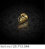 Купить «Emblem with golden Lion», иллюстрация № 29713344 (c) Миронова Анастасия / Фотобанк Лори