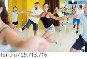 Купить «Young men and women dancing swing», фото № 29713716, снято 21 июня 2017 г. (c) Яков Филимонов / Фотобанк Лори