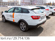 Купить «New Russian vehicle Lada Vesta SW Cross», фото № 29714136, снято 1 мая 2018 г. (c) FotograFF / Фотобанк Лори