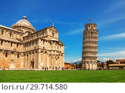 Купить «Leaning Tower of Pisa in Tuscany and the Cathedral of the assumption of the blessed virgin Mary», фото № 29714580, снято 10 мая 2014 г. (c) Наталья Волкова / Фотобанк Лори