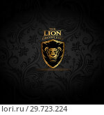 Купить «Emblem with golden Lion», иллюстрация № 29723224 (c) Миронова Анастасия / Фотобанк Лори