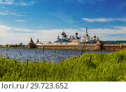 Купить «Spaso-Preobrazhensky the Solovetsky Stavropegial monastery on Bolshoy Solovetsky island in the White sea. Arkhangelsk region, Russia», фото № 29723652, снято 18 июня 2018 г. (c) Наталья Волкова / Фотобанк Лори