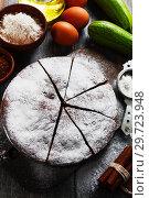Купить «Zucchini cake with cocoa powder», фото № 29723948, снято 12 октября 2018 г. (c) Надежда Мишкова / Фотобанк Лори