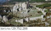 Купить «Top view of the castle Castillo de Loarre. Huesca Province. Aragon. Spain», видеоролик № 29752288, снято 24 декабря 2018 г. (c) Яков Филимонов / Фотобанк Лори