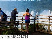 Купить «Observation deck on Garganta del Diablo waterfall on Iguazu River», фото № 29754724, снято 16 февраля 2017 г. (c) Яков Филимонов / Фотобанк Лори