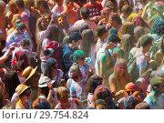 Купить «Festival de los colores Holi in Barcelona», фото № 29754824, снято 12 апреля 2015 г. (c) Яков Филимонов / Фотобанк Лори