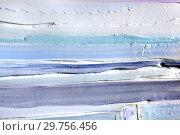 Купить «Светлый фон из рельефа штукатурки, краски в холодных тонах. Пастоз», фото № 29756456, снято 12 января 2017 г. (c) Elizaveta Kharicheva / Фотобанк Лори