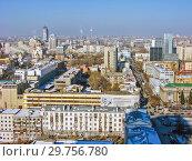 Купить «Городской пейзаж. Вид сверху. Екатеринбург», фото № 29756780, снято 27 февраля 2012 г. (c) Сергей Афанасьев / Фотобанк Лори